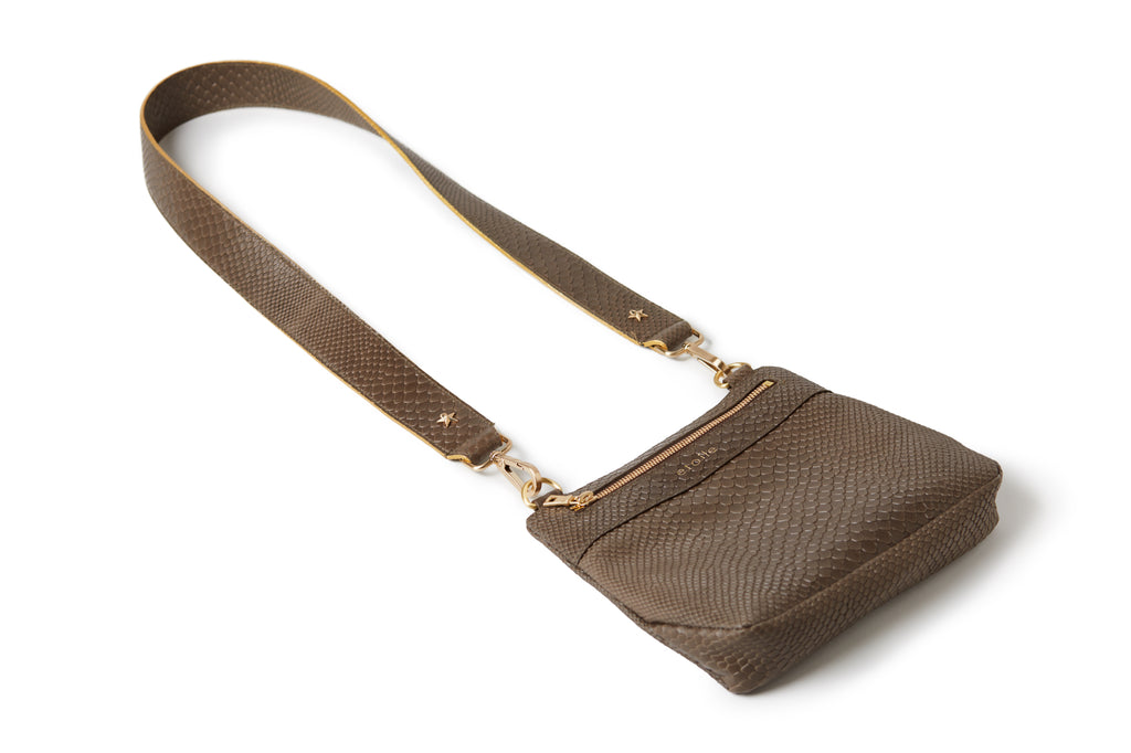 Crossbody Embossed Taupe BOA
