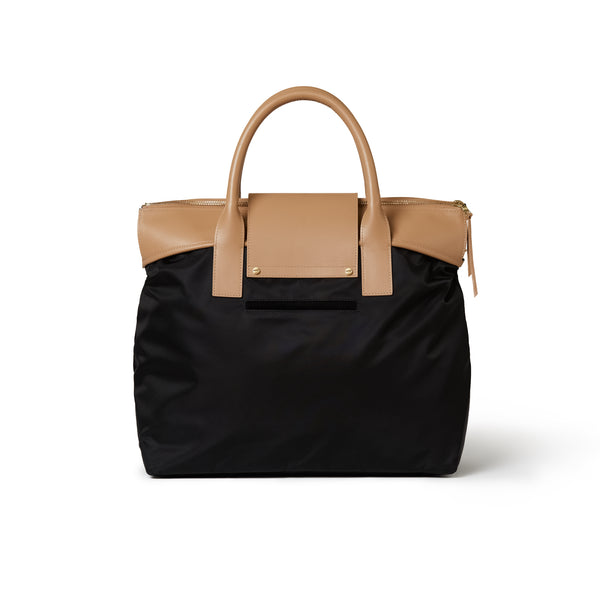 Alessia Large Tote Black /Tan