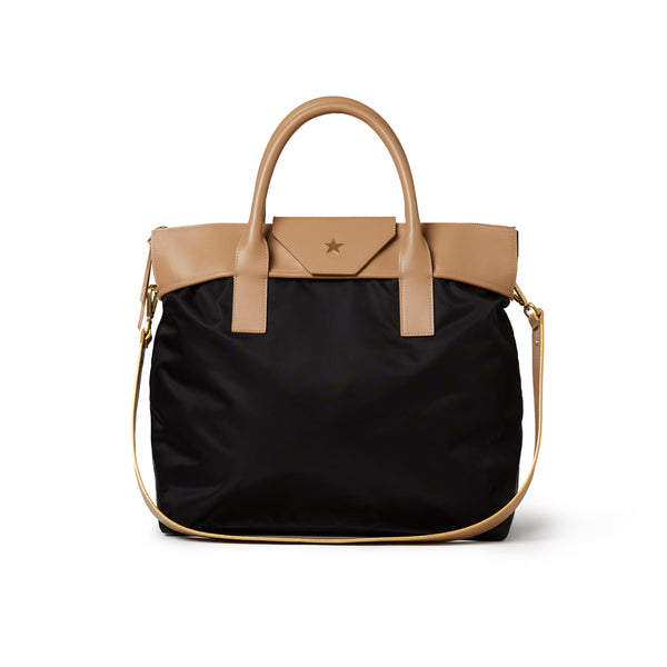 Rachel Medium Tote Black / Tan