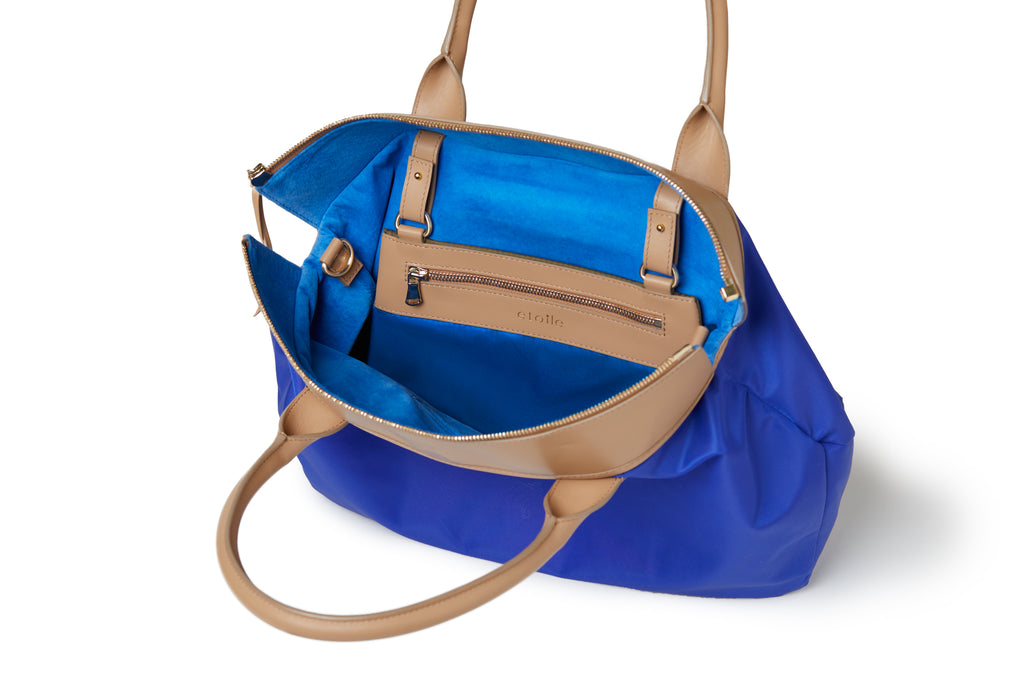 Rachel Medium Tote Royal Blue /Tan