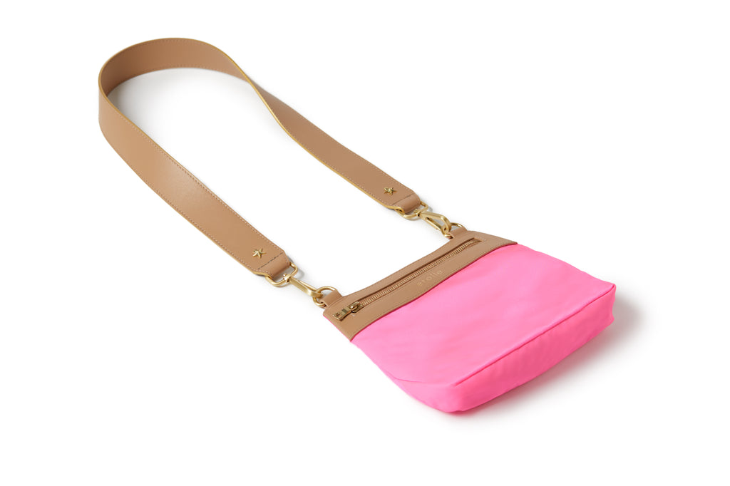 Crossbody Hot Pink / Tan