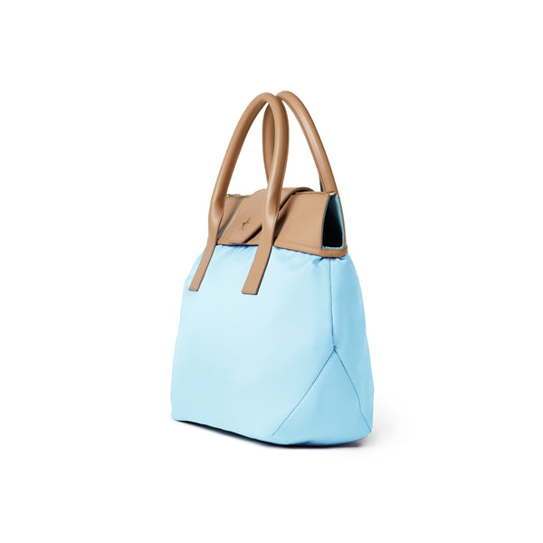 Large Tote Light Blue / Tan