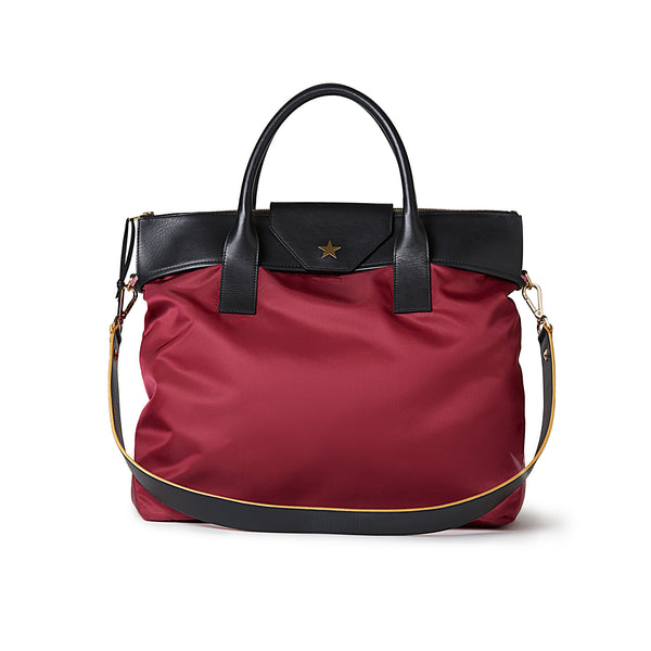 Large Tote Burgundy Red / Black