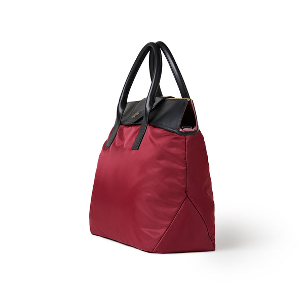 Alessia Large Tote Burgundy Red / Black