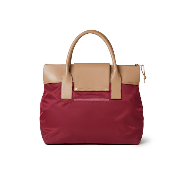 Alessia Large Tote Burgundy Red / Tan