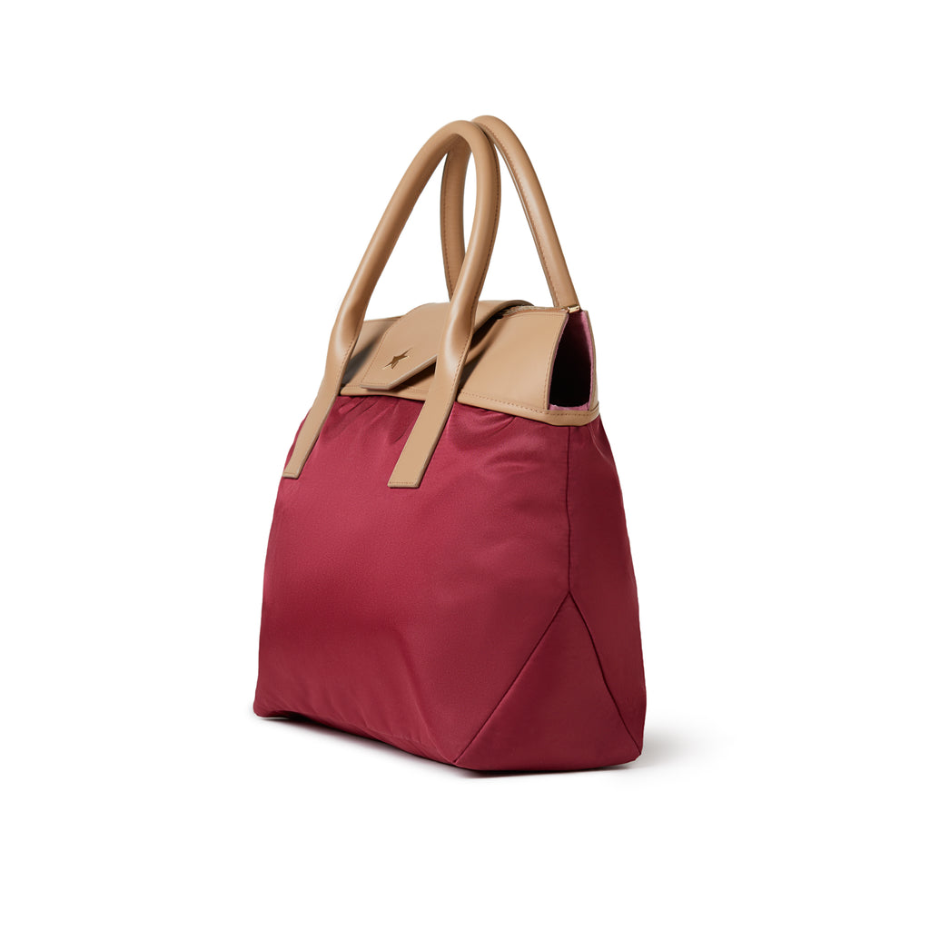Rachel Medium Tote Burgundy Red / Tan