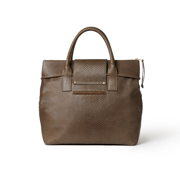 Rachel Medium Tote Embossed Taupe BOA