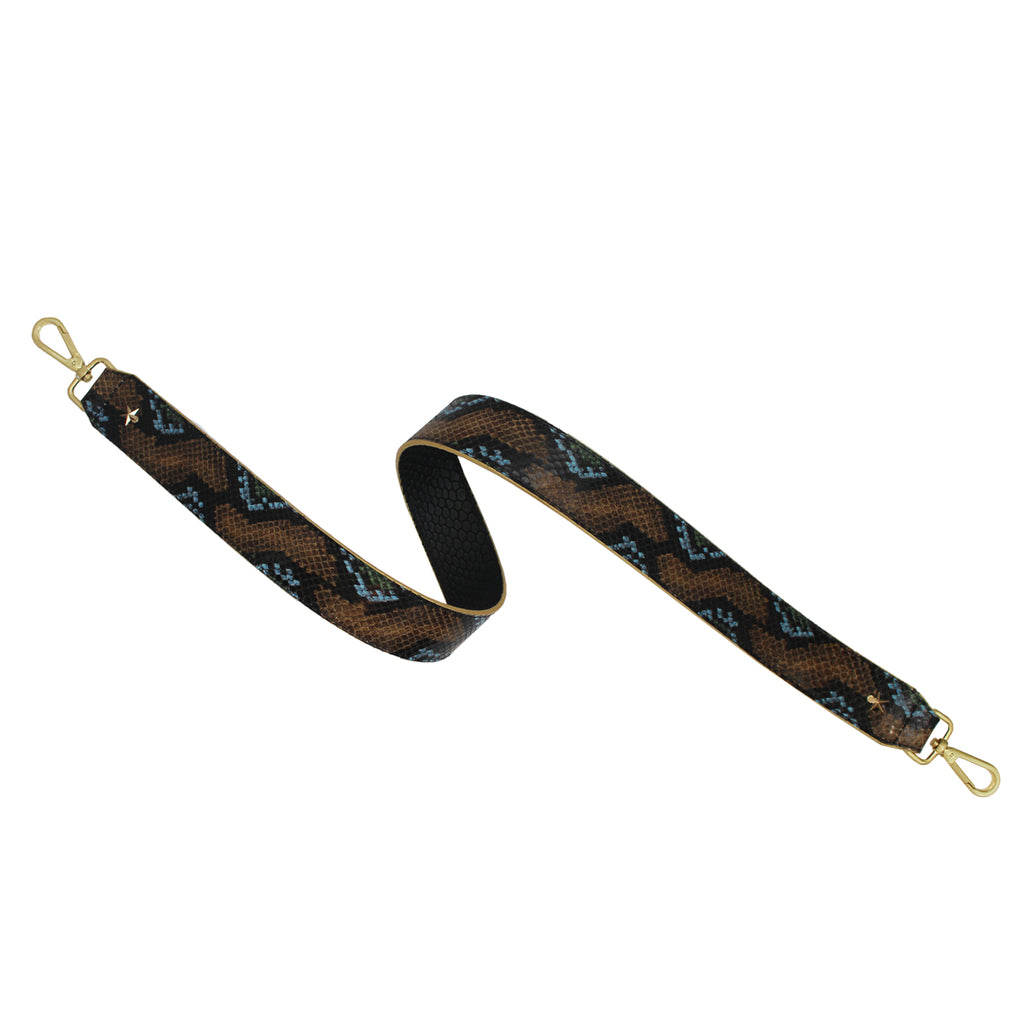 Wild Green Python Leather Shoulder Strap