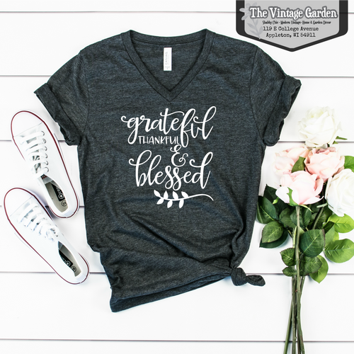 Thankful, Grateful Blessed Tee