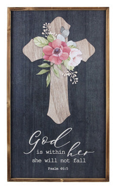Cross Wall Art | God is Within Her