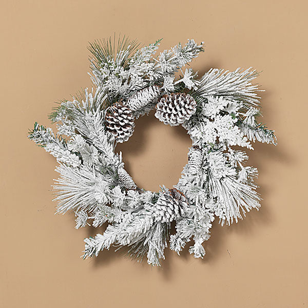 Flocked Pine Wreath | 24