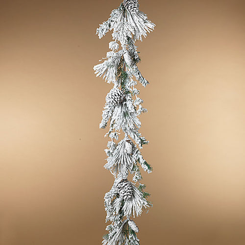 Flocked Pine Garland | 5'