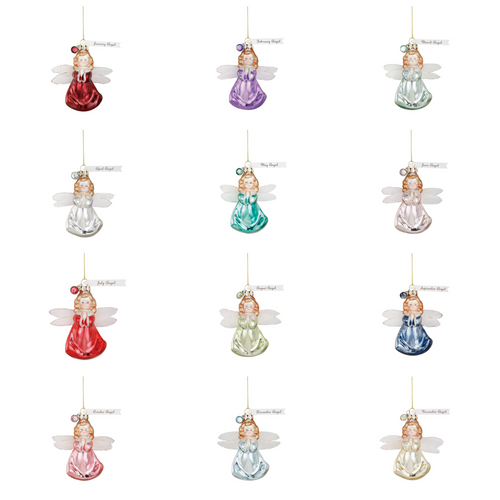 Birth Stone Angel Ornaments