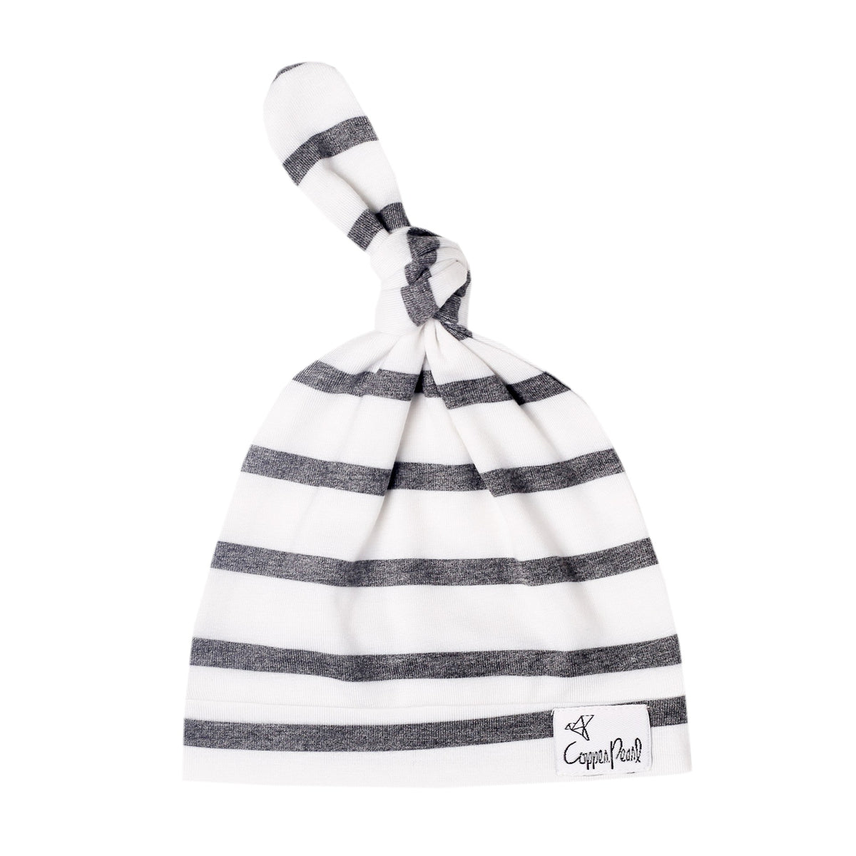 City Striped Top Knot Hat