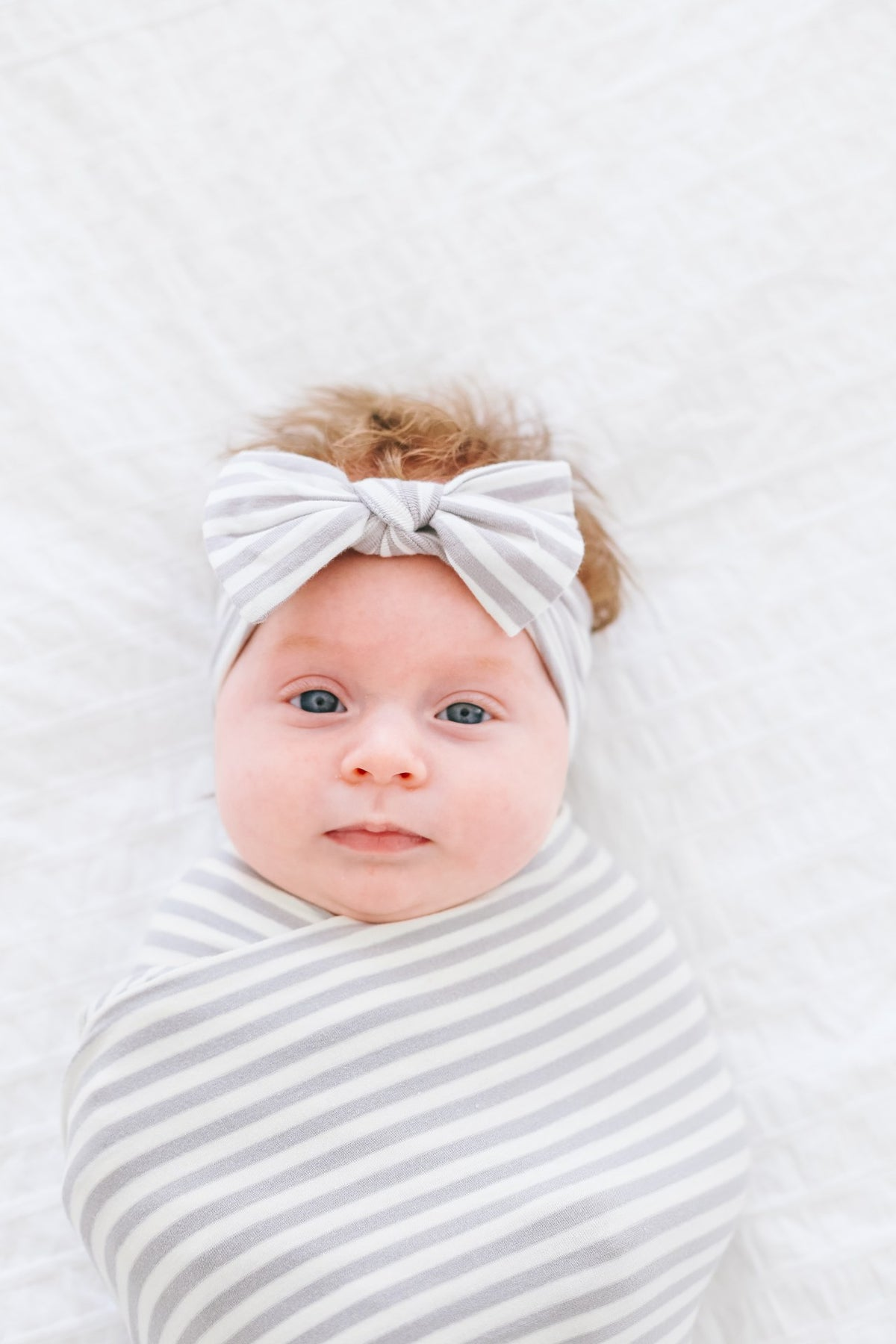 Everest Striped Bow Headband