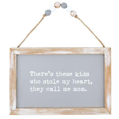 Kids Stole My Heart Beaded Sign