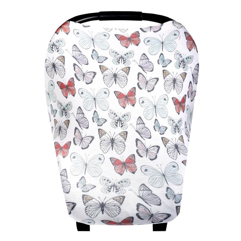 Dot Butterflies Multi-Use Carseat Canopy & Nursing Cover