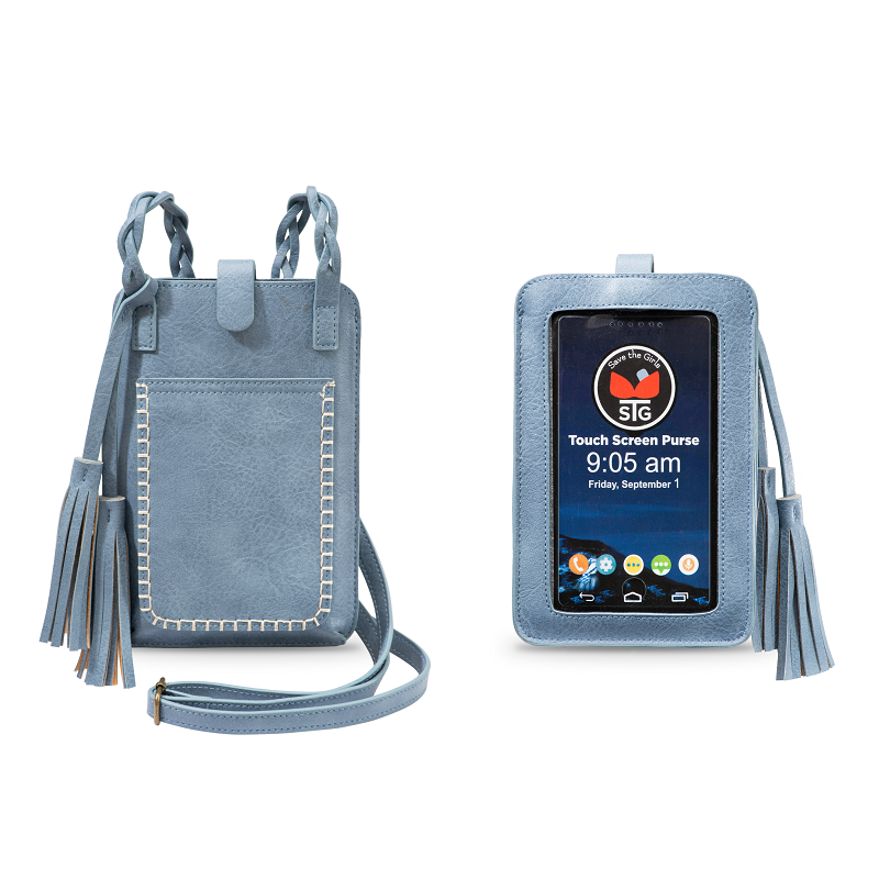 Crossbody Clutch | Smart Phone Touchscreen | Bella Blue