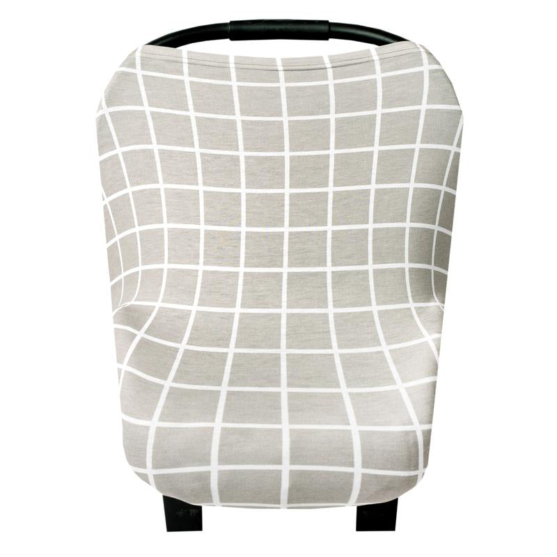 Gray Plaid Multi-Use Carseat Canopy & Nursing Cover