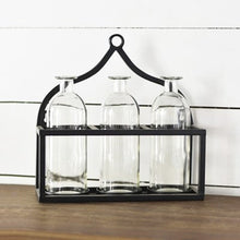 Three Bottle Vase Display