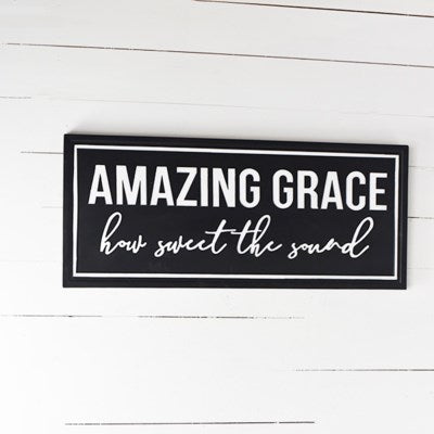 Amazing Grace Sign | Metal