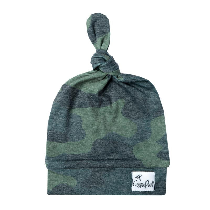 Camo Top Knot Hat