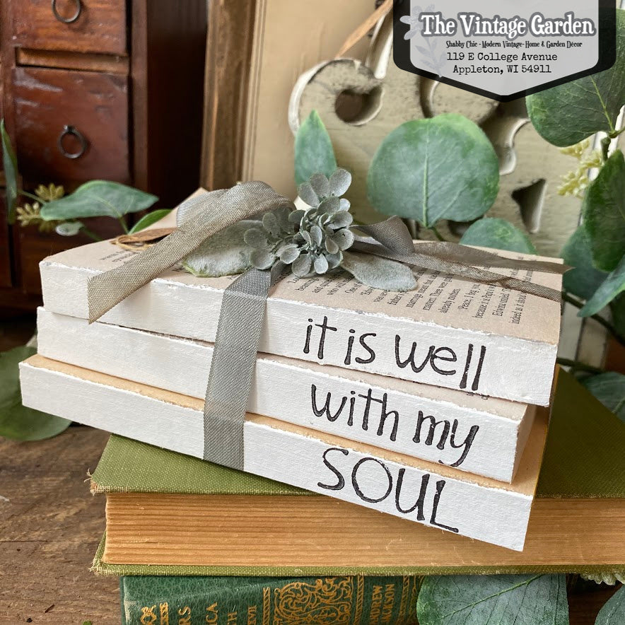 It Is Well With My Soul -- Stacked Books