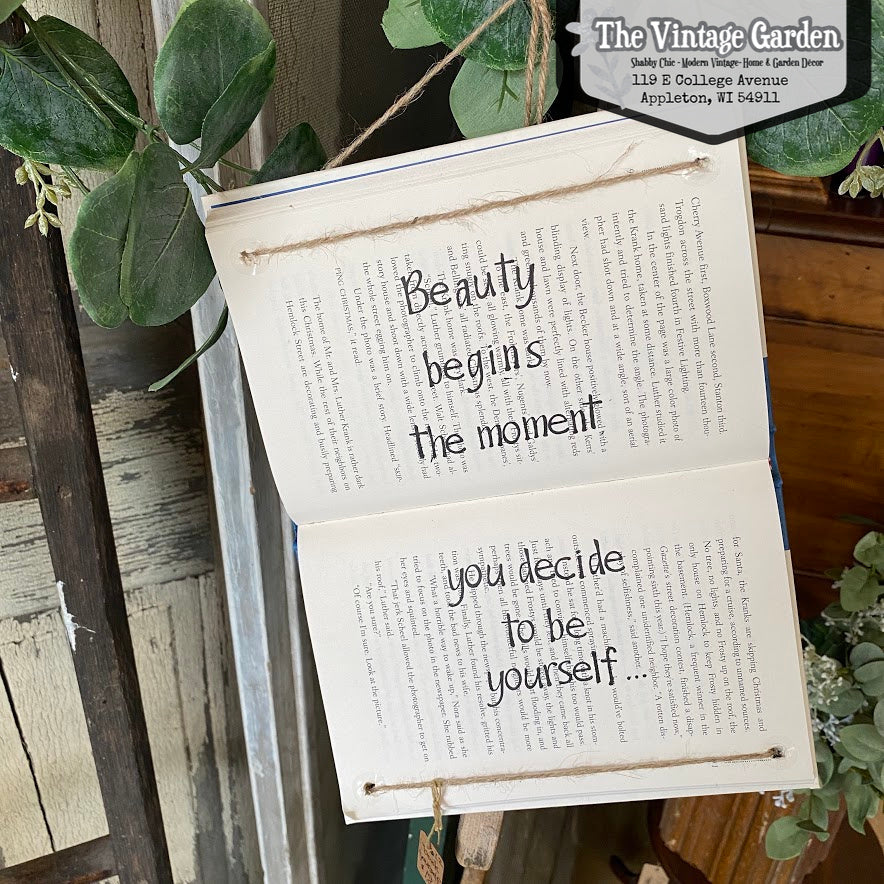 Be Yourself -- Handstamped Book (sold out)