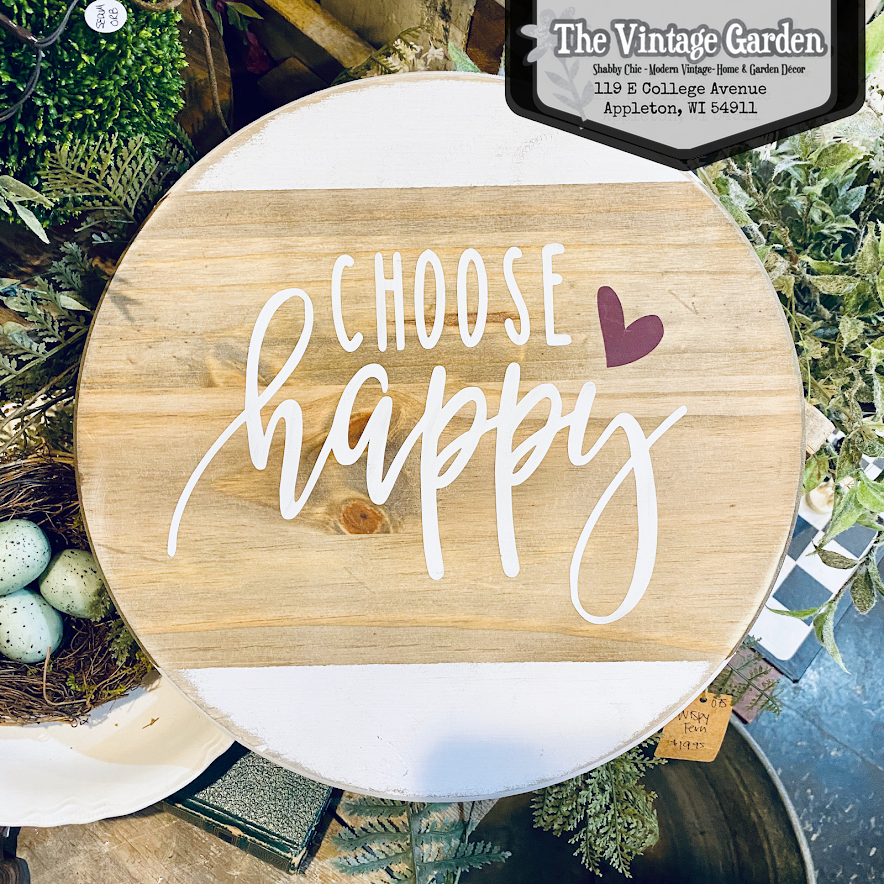 Choose Happy Sign | Handmade