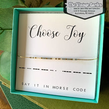 Morse Code Bracelet - Choose Joy