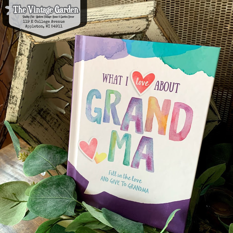 What I Love About Grandma {Fill-in Book}