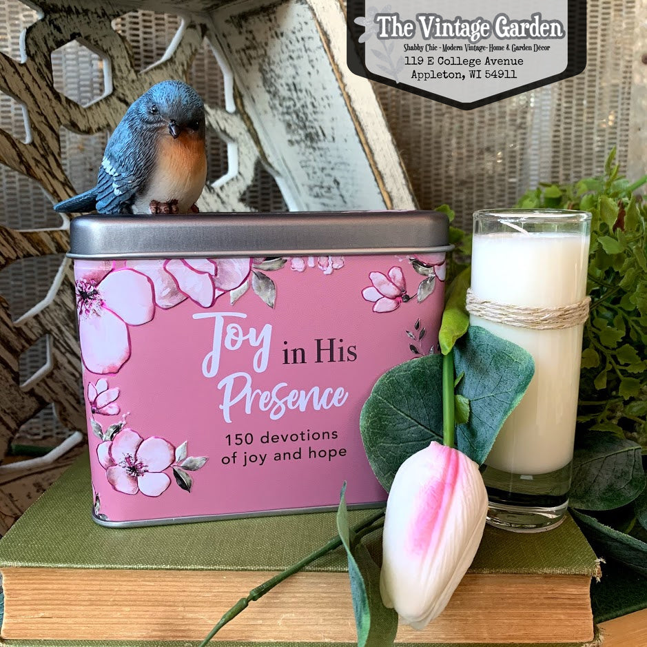 Joy in His Presence Devotional Cards & Candle Gift Box