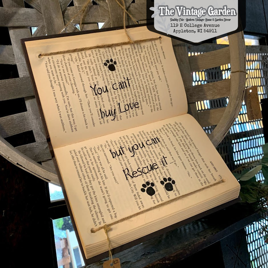 Handstamped Pet Rescue Book