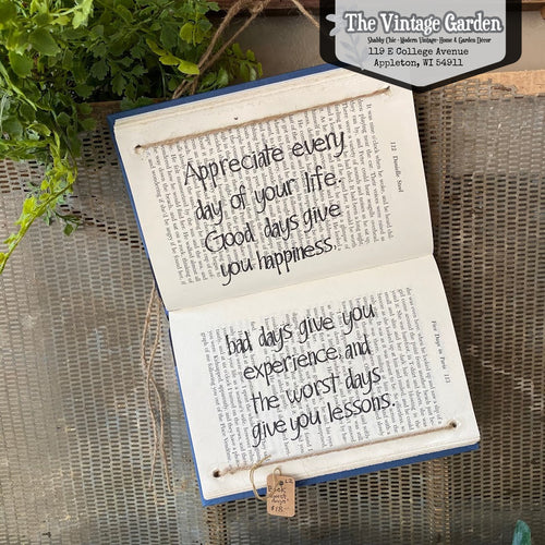 Appreciate Every Day -- Handstamped Book