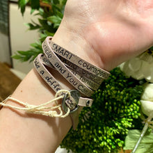 You Are Beautiful Wrap Bracelet | Silver Mist