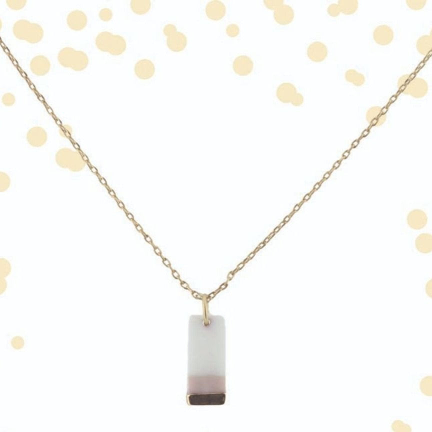 Colorblock Rectangle Pink | Simply Chic | 16