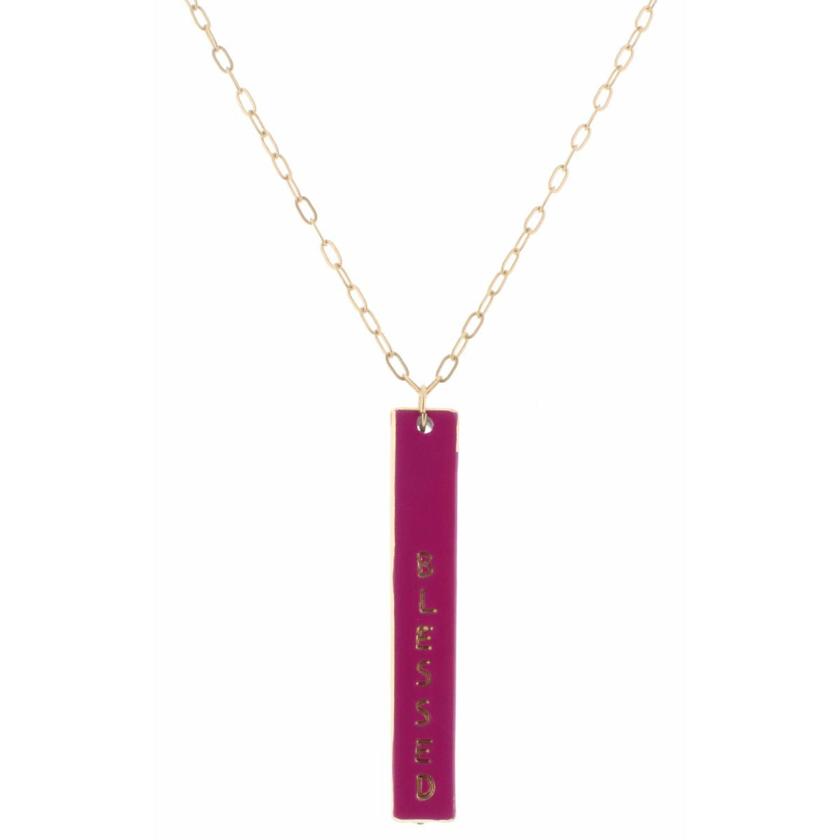 Blessed | Bar Cross Necklace | 30""