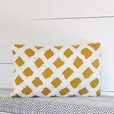 Pillow | Mustard Criss Cross