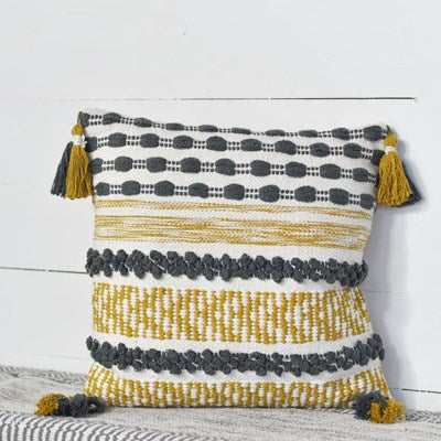 Pillow | Mustard & Grey Bauble