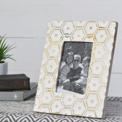 Carved Honeycomb Photo Frame | Wood