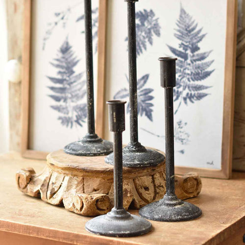 Allegory Taper Candle Holders | Black | Metal