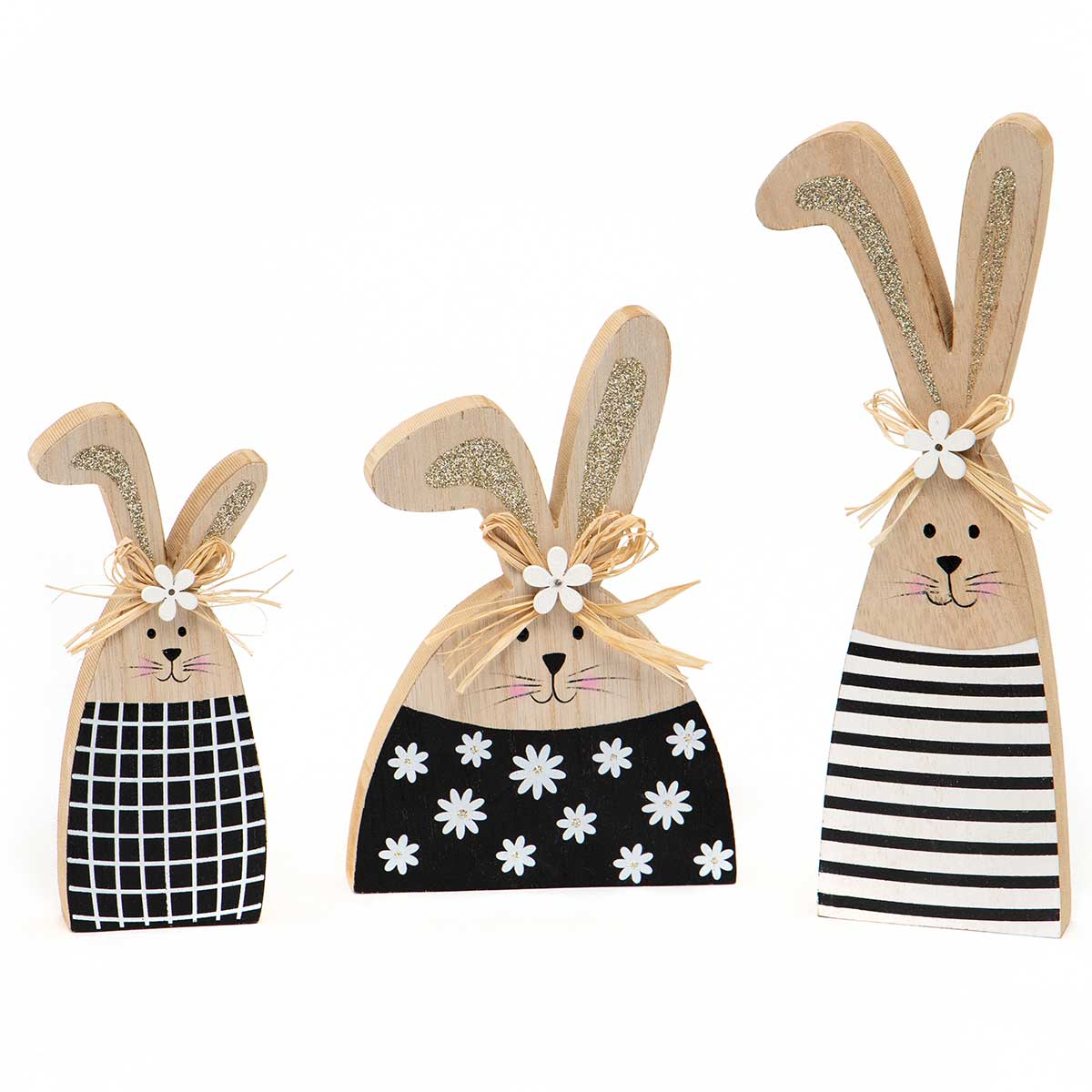 Spring Bunny Sitters | Black