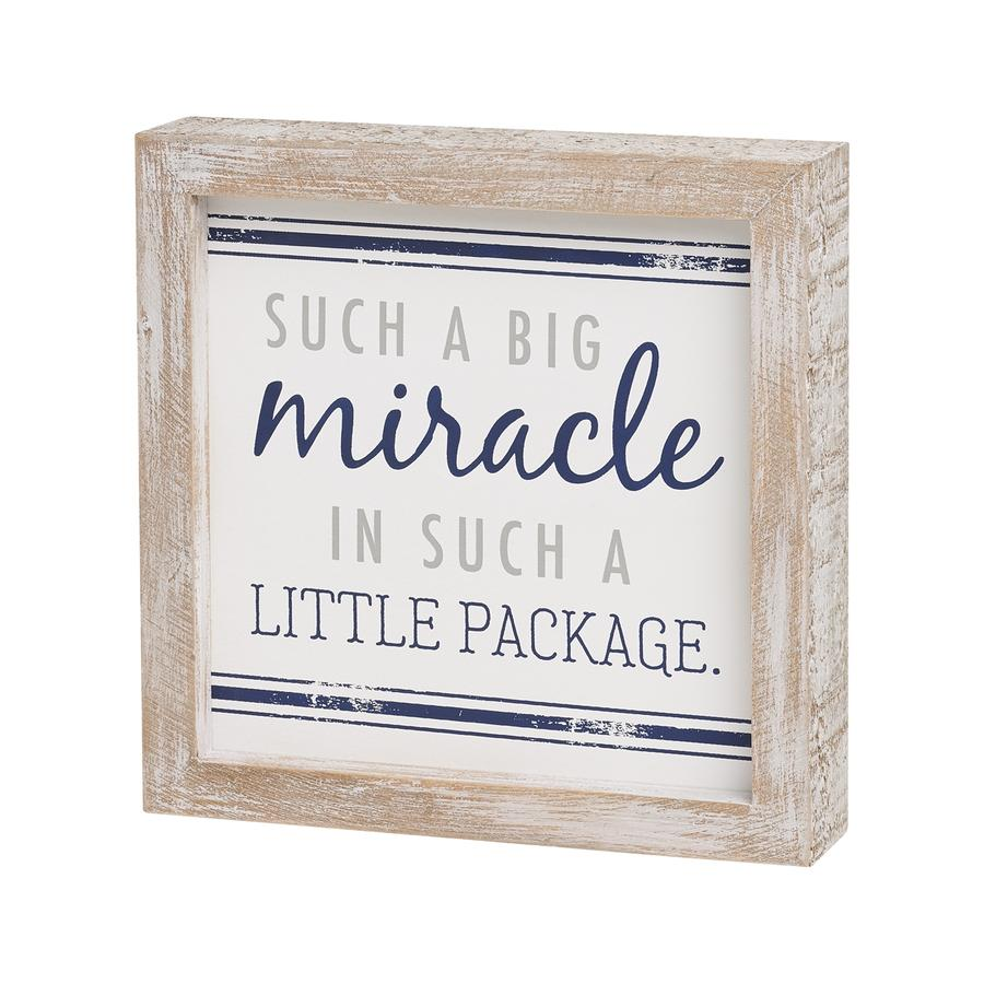 Such a Big Miracle Framed Sign | Navy
