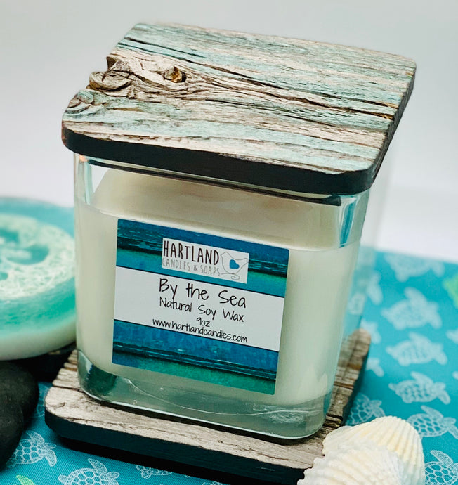 "Barn Wood ""By the Sea Soy"" Candles 9oz"