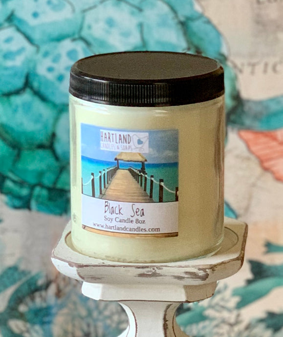 Soy Candle ~ Black Sea  8oz - Sexy Man