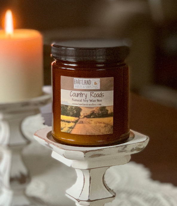 Soy Candle ~ Country Roads 8oz