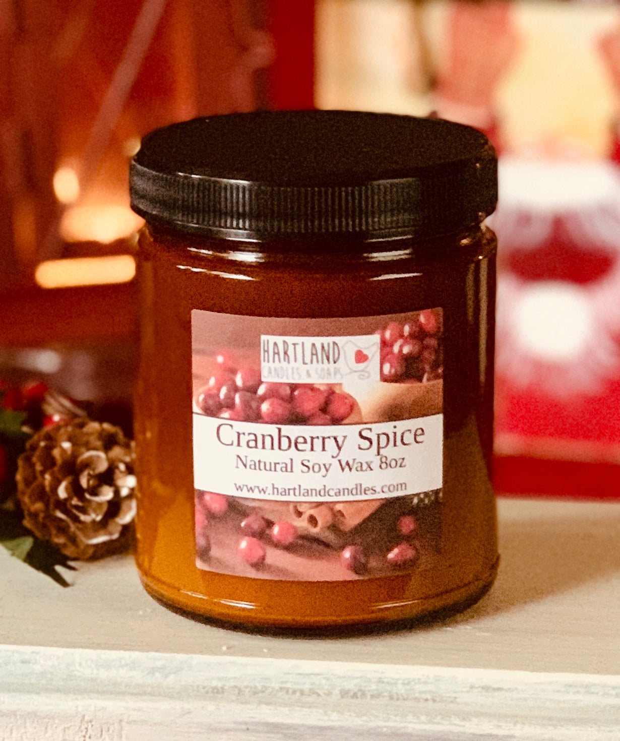 Holiday Soy Candles-Cranberry Spice