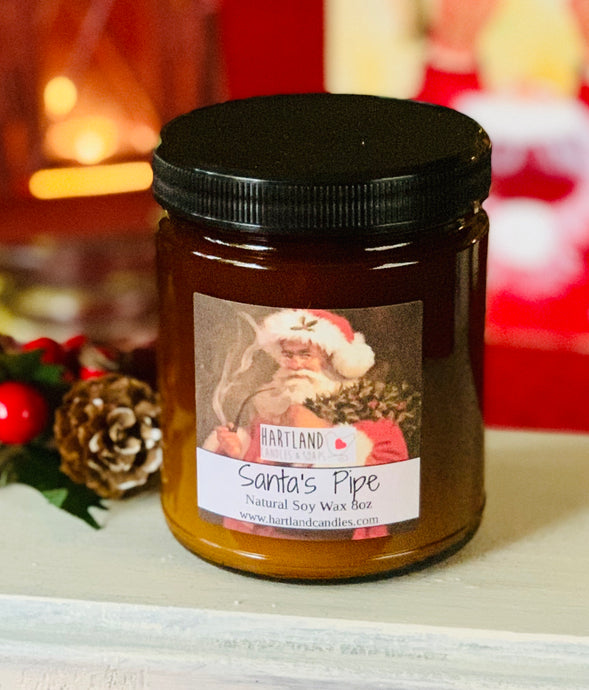 Holiday Soy Candles-Santa's Pipe