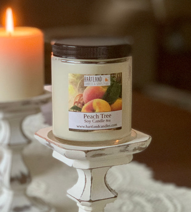 Soy Candle ~ Peach Tree 8oz