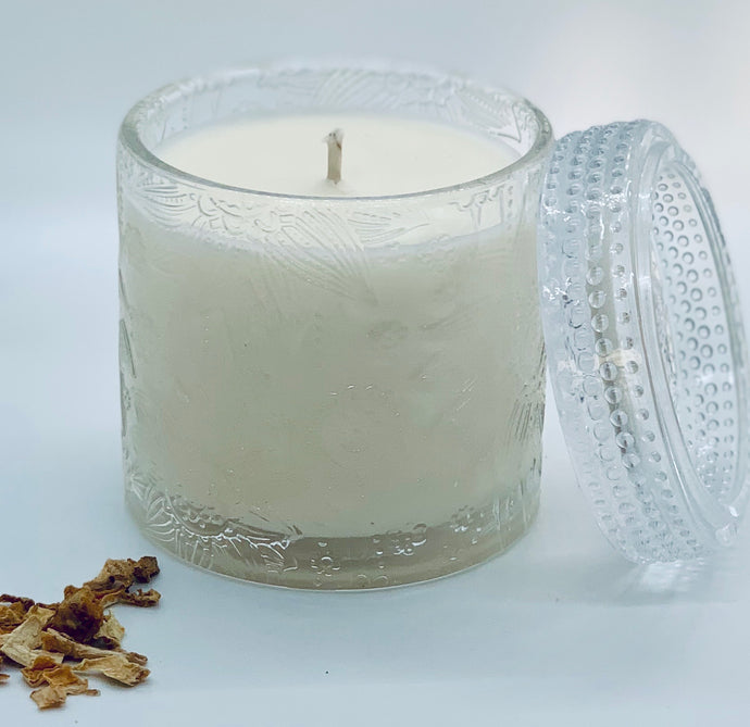 Lotus Flower Jar Soy Candles Crystal Clear